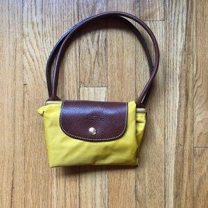 Longchamp mustard medium bag